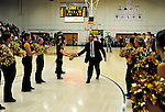 17 January 2010: University of Vermont Catamount Head Coach Mike Lonergan leaves the court after a game against the Boston University Terriers at Patrick Gymnasium in Burlington, Vermont. The Catamounts, holding the lead for the entire game, defeated the Terriers 78-58. Mandatory Credit: Ed Wolfstein Photo