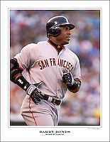 San Francisco Giants left fielder Barry Bonds Home Run King with 762 carrer home runs.