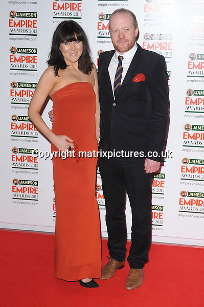 NON EXCLUSIVE PICTURE: PAUL TREADWAY / MATRIXPICTURES.CO.UK.PLEASE CREDIT ALL USES..WORLD RIGHTS..English actor Steve Oram attending the Jameson Empire Film Awards 2013, at London's Grosvenor House Hotel...MARCH 24th 2013..REF: PTY 131947