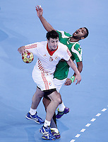 Algeria's Messaoud Berkous (r) and Croatia's Domagoj Duvnjak during 23rd Men's Handball World Championship preliminary round match.January 14,2013. (ALTERPHOTOS/Acero) 7NortePhoto