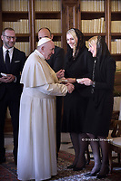 Pope Francis meets Zeljko Komsic chairman of the Presidency of Bosnia and Herzegovina at the Vatican on February 15, 2020