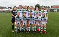 20180815 - Zulte , BELGIUM : OHL's players pictured with Louise Van Den Bergh , Michelle Colson  , Sari Kees , Petra Baldewijns , Jana Janssens , Valentine Hannecart , Laura Vervacke , Louise Rillaerts , Karlijn Knapen , Lore Asselberghs, Lotte Michiels during a friendly pre season soccer match between the women teams of Zulte Waregem Dames and OHL Oud Heverlee Leuven Dames  , Wednesday 15 August 2018 . PHOTO DAVID CATRY | SPORTPIX.BE