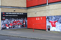 One of the most famous matches in Charlton's history was the 1997/98 Division One Play-Off Final at Wembley against Sunderland. Large photos from the match are still proudly displayed on the outside of the North Stand. Clive Mendonca, who scored a hat-trick in the match became a Charlton legend overnight during Charlton Athletic vs Doncaster Rovers, Sky Bet EFL League 1 Play-Off Football at The Valley on 17th May 2019