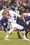 Philadelphia, PA - December 8, 2018:  Navy Midshipmen wide receiver Zach Abey (9) throws the ball during the 119th game between Army vs Navy at Lincoln Financial Field in Philadelphia, PA. (Photo by Elliott Brown/Media Images International)
