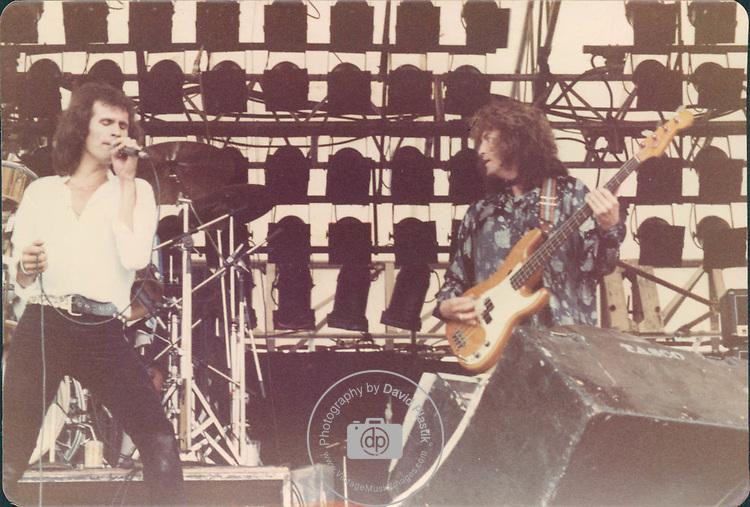 Uriah Heep, Pete Goalby, Bob Daisley, Castle Donnington Monsters of Rock 1982 Donnington 1982