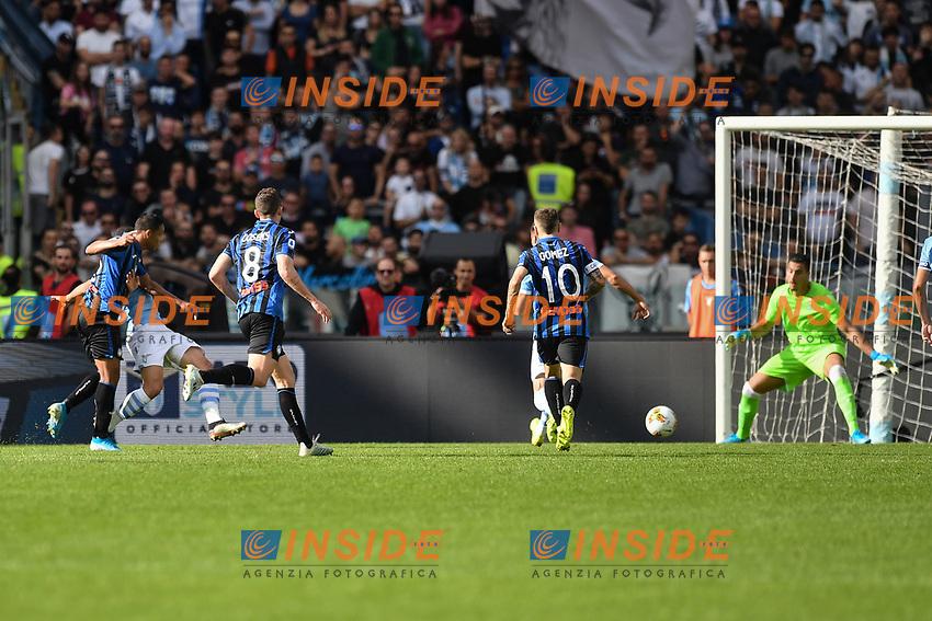 Muriel of Atalanta scoring a goal<br /> Roma 19-10-2019 Stadio Olimpico <br /> Football Serie A 2019/2020 <br /> SS Lazio - Atalanta<br /> Foto Antonietta Baldassarre / Insidefoto