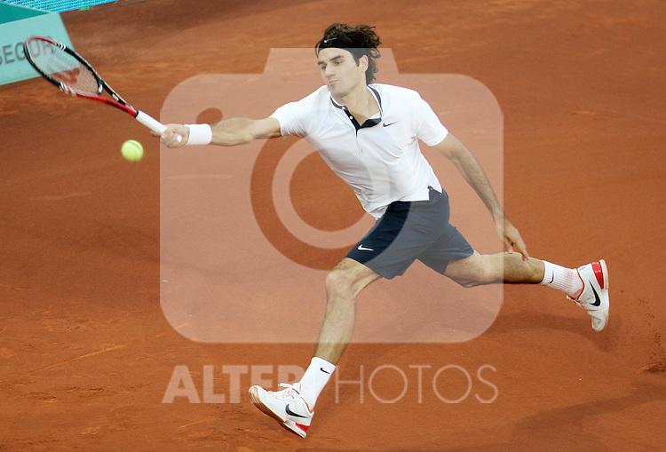 Roger Federer during Tennis Madrid Open ATP Singles Final, May 16,2010..(ALTERPHOTOS/Alvaro Hernandez)