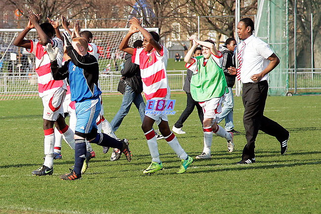 PECKHAM TOWN v HACKNEY<br /> LONDON FA CUP (U14) FINAL SUNDAY 11TH MARCH 2012 MILE END STADIUM