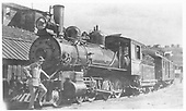 RGS 4-6-0 #23 with a passenger train.<br /> Florence &amp; Cripple Creek  Cripple Creek, CO  Taken by Boutell, Hugh G. - 9/1906