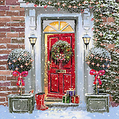 Addy, CHRISTMAS LANDSCAPE, paintings+++++,GBAD123640,#XL#