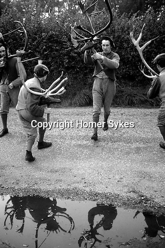 Abbots Bromley Horn Dance. Staffordshire. September.1975