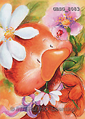 Ron, CUTE ANIMALS, Quacker, paintings, duck, flowers(GBSG8083,#AC#) Enten, patos, illustrations, pinturas
