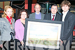 PAINTING DONATION: Artist Dolores Johnson donating one of her painting for auction in aid of a Tanzania School at Willie D'Arcy's Bar on Friday Night. L-r: Lord Mayor of Tralee Miriam McGillycuddy, Dolores Johnson, Fr. John O'Callaghn, Councillor Ted Fitzgerald and Shane Murphy.   Copyright Kerry's Eye 2008