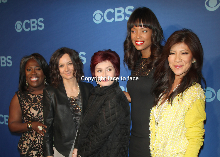 NEW YORK, NY - MAY 15: Sheryl Underwood, Sara Gilbert, Sharon Osbourne, Aisha Tyler and at the CBS 2013 Upfront Presentation at The Tent at Lincoln Center on May 15, 2013 in New York City. ..Credit: MediaPunch/face to face..- Germany, Austria, Switzerland, Eastern Europe, Australia, UK, USA, Taiwan, Singapore, China, Malaysia, Thailand, Sweden, Estonia, Latvia and Lithuania rights only -