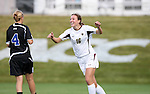 05 November 2008: Boston College's Brooke Knowlton (16) reacts to scoring a goal. Boston College defeated Duke University 1-0 at Koka Booth Stadium at WakeMed Soccer Park in Cary, NC in a women's ACC tournament quarterfinal game.