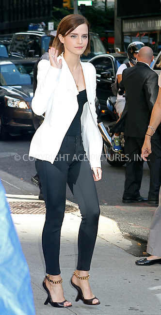 WWW.ACEPIXS.COM....September 5 2012, September 5 2012....Actress Emma Watson made an appearance at The Late Show with David Letterman on September 5 2012 in New York City....By Line: Nancy Rivera/ACE Pictures......ACE Pictures, Inc...tel: 646 769 0430..Email: info@acepixs.com..www.acepixs.com