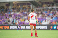 Orlando, FL - Saturday July 01, 2017: Sarah Gorden during a regular season National Women's Soccer League (NWSL) match between the Orlando Pride and the Chicago Red Stars at Orlando City Stadium.