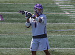 Tehoka Nanticoke (#1) looks for a shot as UAlbany Lacrosse defeats Vermont 14-4  in the American East Conference Championship game at Casey Stadium, May 5.
