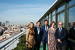 """James costos, the former US ambassador, Isabel Oliver, secretary of state for tourism, Oscar Puente, Mayor of Valladolid, Carlos Rosado, president of the Spain Film Commission,  Rocio Reinoso, managing director of the agency EFE in the presentation of the """"Shooting in Spain"""" project<br /> October 3, 2019. <br /> (ALTERPHOTOS/David Jar)"""