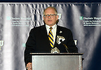 Florida International University President Mark Rosenberg announces that FIU has joined Conference USA on May 4, 2012, at Miami, Florida..