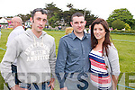 Malachy Scanlon, Pa Scanlon and Celine Lynch (all from kilgarvan) at the Dog Show during the Fenit Seabreeze Festival on Sunday.