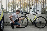 getting Damien Howson's (AUS/ORICA-Scott) bike race-ready<br /> <br /> 98th Milano - Torino 2017 (ITA) 186km