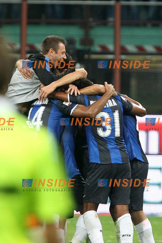"Esultanza Antonio Cassano Inter.Celebration.Milano 07/10/2012 Stadio ""San Siro"".Football Calcio Serie A 2012/13.Milan v Inter.Foto Insidefoto Paolo Nucci."