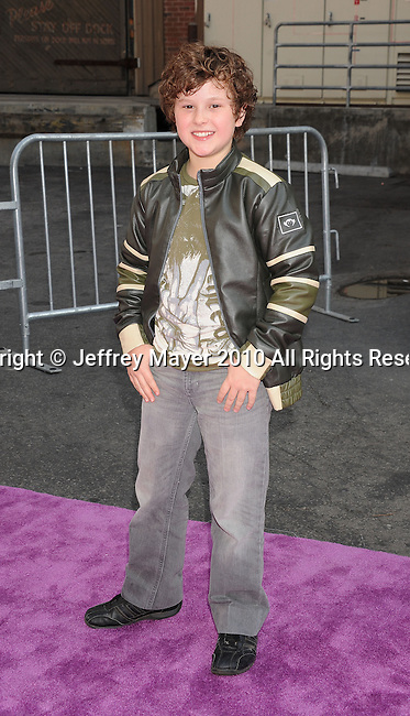 HOLLYWOOD, CA. - October 24: Nolan Gould arrives at Variety's 4th Annual Power of Youth event at Paramount Studios on October 24, 2010 in Hollywood, California.