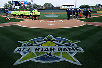Photo from the South Atlantic League Celebrities vs. Soldiers Softball Game as part of the All-Star Game festivities on Monday, June 19, 2017, at Spirit Communications Park in Columbia, South Carolina. (Tom Priddy/Four Seam Images)