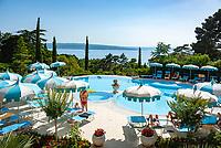 Croatia, Kvarner Gulf, Crikvenica: 4-star-hotel Kvarner Palace - Pool | Kroatien, Kvarner Bucht, Crikvenica: 4-Sterne-Hotel Kvarner Palace - Pool