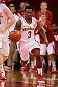 December 3, 2012: Benny Parker (3) of the Nebraska Cornhuskers brings the ball down court against the USC Trojans at the Devaney Sports Center in Lincoln, Nebraska. Nebraska defeated USC 63 to 51.