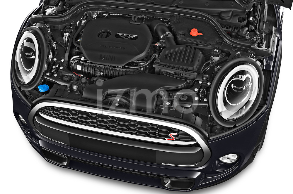 Car Stock2015 MINI MINI COOPER S 3 Door Hatchback 2WD Engine high angle detail view