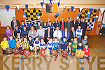 MAN OF THE MATCHES: The young St Brendan's Hurlers under10,12,14, and 16s who were presented with their man of their matches trophies by special guest MIkey Boyle (Tipp Hurler) and Jackie Tyrell (Killkenny). in St Brendan's Community Hall, on Saturday night.....