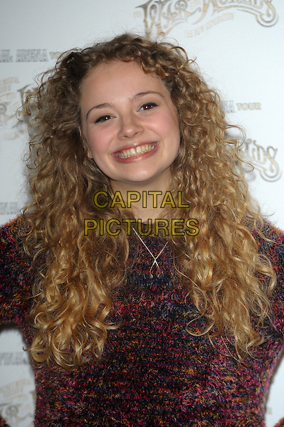 LONDON, ENGLAND - FEBRUARY 28: Carrie-Hope Fletcher attends a media call for Jeff Wayne's musical version of 'The War of The Worlds' The Final Arena Tour! at The Hospital Club on February 28th, 2014 in London, England.<br /> CAP/CJ<br /> &copy;Chris Joseph/Capital Pictures