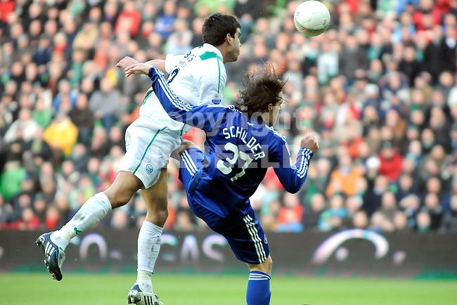 voetbal fc groningen - ajax eredivisie seizoen 2008-2009 25-01-2009 koen vand er laak en robbert schilder.fotograaf jan kanning . . .