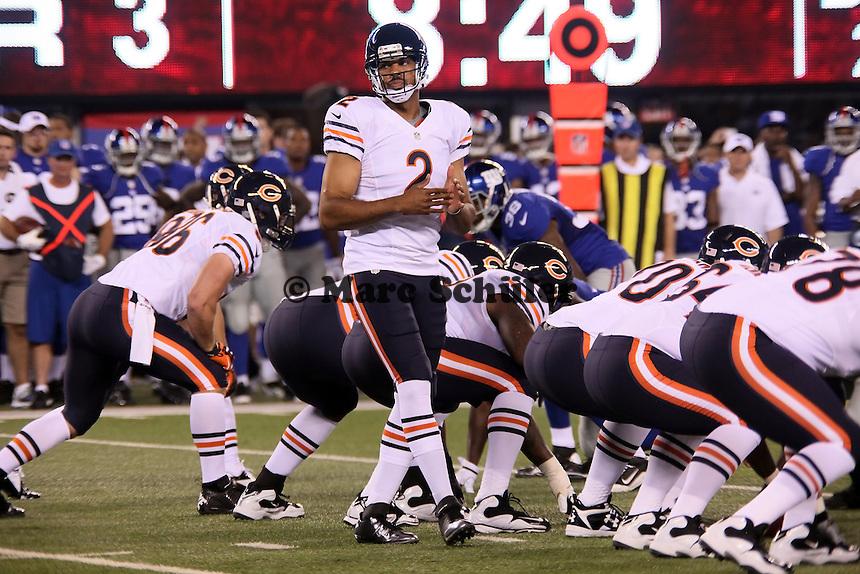QB Jason Campbell (Bears) nimmt einem Timeout