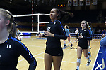 DURHAM, NC - NOVEMBER 24: Duke's Summer Brown. The Duke University Blue Devils hosted the University of North Carolina Tar Heels on November 24, 2017 at Cameron Indoor Stadium in Durham, NC in a Division I women's college volleyball match. Duke won 3-0 (25-21, 25-22, 25-20).