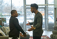 SuperFly (2018) <br /> Jason Mitchell and Trevor Jackson<br /> *Filmstill - Editorial Use Only*<br /> CAP/MFS<br /> Image supplied by Capital Pictures