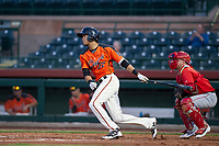 AZL Giants third baseman Francisco Medina (37) bats during a game against the AZL Angels on July 10, 2017 at Scottsdale Stadium in Scottsdale, Arizona. AZL Giants defeated the AZL Angels 3-2. (Zachary Lucy/Four Seam Images)
