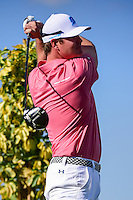 Hudson Swafford (USA) watches his tee shot on 13 during round 1 of the Honda Classic, PGA National, Palm Beach Gardens, West Palm Beach, Florida, USA. 2/23/2017.<br /> Picture: Golffile | Ken Murray<br /> <br /> <br /> All photo usage must carry mandatory copyright credit (&copy; Golffile | Ken Murray)