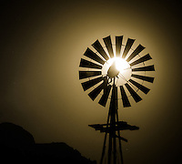 Windmill Moon - Arizona (Please note that due to the crop of this photo it can only be ordered in a square format on canvas or metal - no paper prints available - for example, a 16x16 on metal would be perfect for this photo - contact me for ordering)<br /> Super Full Moon - June 2013