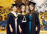 REPRO FREE<br /> 19/01/2015<br /> Sharon Forde, Annaghdown, Co. Galway, Aisling Barnes, Corbally, Limerick and Lorraine Higgins, Abbeyknockmoy, Co. Galway who all graduated with Masters in Human Resource Management at the University of Limerick winter conferring ceremony.<br /> As the University of Limerick commences three days of Winter conferring ceremonies which will see 1831 students conferring, including 74 PhDs, UL President, Professor Don Barry highlighted the increasing growth in demand for UL graduates by employers and the institution&rsquo;s position as Sunday Times University of the Year. <br /> Pic: Don Moloney/Press 22