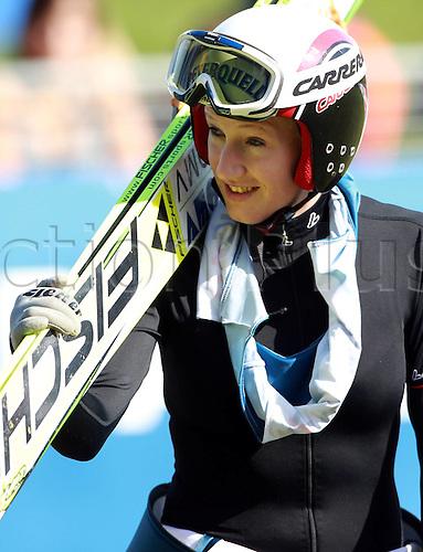 09.10.2010 Ski jumping Austrian State Championships. women Picture shows Daniela Iraschko AUT