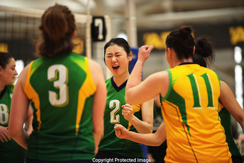 Action from the Volleyball NZ 50th National Club Championships at ASB Sports Centre in Wellington, New Zealand on Saturday, 12 October 2017. Photo: Dave Lintott / lintottphoto.co.nz