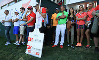 Sister Emma watches on as Rafa Cabrera-Bello (ESP) takes it the final hole just to be one shot short, during the Final Round of the 2016 Omega Dubai Desert Classic, played on the Emirates Golf Club, Dubai, United Arab Emirates.  07/02/2016. Picture: Golffile | David Lloyd<br /> <br /> All photos usage must carry mandatory copyright credit (&copy; Golffile | David Lloyd)