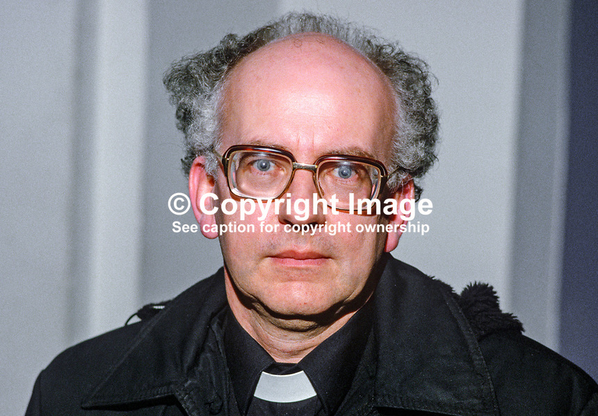 Rev Raymond Murray, Roman Catholic priest, Armagh, N Ireland, UK, who actively pursued the question of prisoners' rights during the N Ireland Troubles. 19850415RM..Copyright Image from Victor Patterson, 54 Dorchester Park, Belfast, UK, BT9 6RJ..Tel: +44 28 9066 1296.Mob: +44 7802 353836.Voicemail +44 20 8816 7153.Skype: victorpattersonbelfast.Email: victorpatterson@mac.com.Email: victorpatterson@ireland.com (back-up)..IMPORTANT: If you wish to use this image or any other of my images please go to www.victorpatterson.com and click on the Terms & Conditions. Then contact me by email or phone with the reference number(s) of the image(s) concerned.