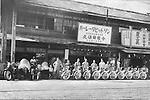 Harley-Davidson dealer in Hokkaido in 1930s.