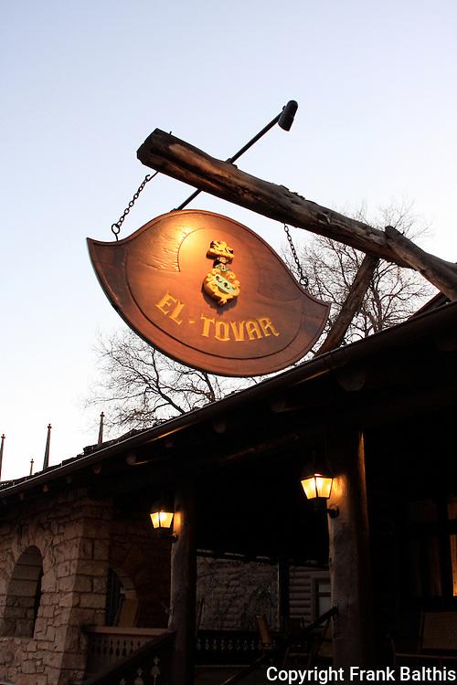 Sign at El Tovar Hotel