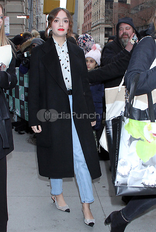 NEW YORK, NY - December 12: Olivia Cooke seen at Build Series in New York City on  December 12, 2018. Credit: RW/MediaPunch