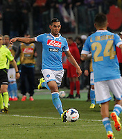 Faouzi Ghoulan    during the the Italian Cup final soccer match between Napoli and  Fiorentina at the Olympic stadium in Rome May 3, 2014
